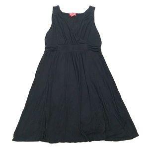 ELLE Black Stretchy V-Neck Tank Dress
